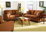 Sofa Set 8-Way-Hand-Tied in Red Chenille - 9837CN-SET