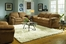 Sofa Set in Brown Microfiber - 9841BR-SET