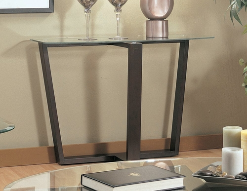 Sofa Table in Black Metal / Glass Top - Coaster