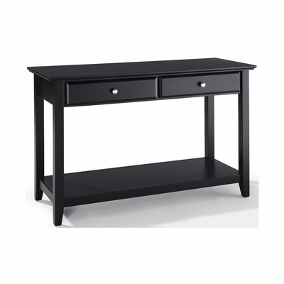 Sofa Table With Storage Drawers in Black - CROSLEY-CF1303-BK