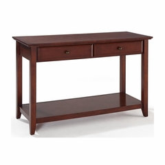 Sofa Table With Storage Drawers in Vintage Mahogany - CROSLEY-CF1303-MA