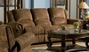 Sofa with 2 Recliners in Medium Brown Distressed - Coaster