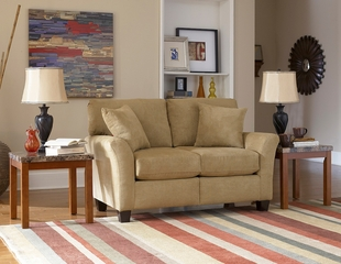 Sofab Shag Loveseat in Prairie - 1289M