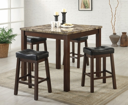 Sofie 5-Piece Dining Set in Brown Cherry - Coaster - 150302