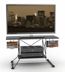 Soho TV Stand, Black, Black Carbon Fiber - Atlantic - 88335754