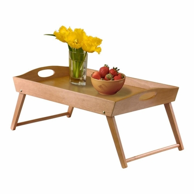 Solid Beechwood Bed Tray in Light Oak - Winsome Trading - 34727