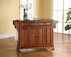 Solid Black Granite Top Kitchen Cart/Island in Classic Cherry Finish - Crosley Furniture - KF30004ECH