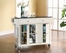 Solid Black Granite Top Kitchen Cart/Island in White Finish - Crosley Furniture - KF30004EWH