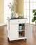 Solid Black Granite Top Portable Kitchen Cart/Island in White - CROSLEY-KF30024EWH