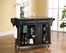 Solid Granite Top Kitchen Cart/Island in Black Finish - Crosley Furniture - KF30003EBK