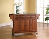 Solid Granite Top Kitchen Cart/Island in Classic Cherry Finish - Crosley Furniture - KF30003ECH
