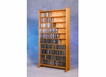 Solid Oak 10 Shelf CD Storage Cabinet - 1002-3