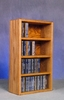 Solid Oak 104 CD Desktop or Shelf CD Cabinet - 403-1