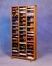 Solid Oak 120 VHS Storage Tower  - 308-4VHS