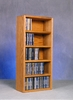 Solid Oak 130 CD Desktop or Shelf CD Cabinet - 503-1