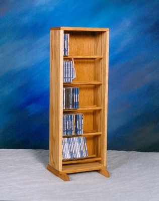 Solid Oak 130 CD Multimedia Storage Cabinet - 506-12