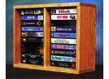 Solid Oak 20 Capacity Desktop or Shelf VHS Cabinet - 210-1VHS