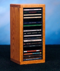 Solid Oak 20 CD Tabletop Storage Cabinet - 109-1