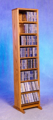 Solid Oak 208 Capacity CD Cabinet - 806-12