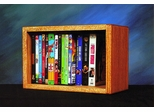 Solid Oak 22 Capacity Desktop or Shelf DVD Cabinet  - 110-1W