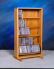 Solid Oak 220 CD Multimedia Storage Cabinet - 506-18