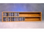 Solid Oak 236 CD Wall or Shelf Mount CD Cabinet - 203-4