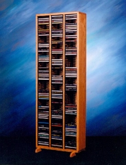 Solid Oak 240 CD Storage Tower - 309-4