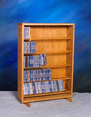 Solid Oak 275 CD Storage Cabinet - 506-24