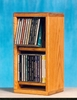 Solid Oak 28 CD Multimedia Storage Cabinet - 206