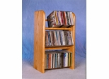 Solid Oak 3 Row Dowel 78 CD Rack - 304