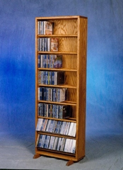 Solid Oak 336 Capacity CD Cabinet - 806-18