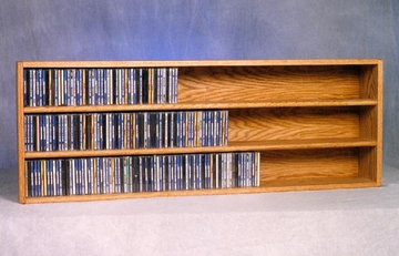 Solid Oak 354 CD Wall or Shelf Mount CD Cabinet - 303-4