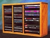 Solid Oak 40 CD and 16 DVD Storage Cabinet - 312-1CD/DVD