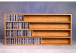 Solid Oak 476 CD Wall or Shelf Mount CD Cabinet - 403-4