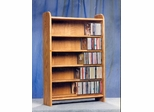 Solid Oak 5 Shelf Tabletop CD Cabinet - 502