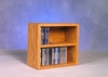 Solid Oak 52 CD Desktop or Shelf CD Cabinet - 203-1