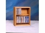 Solid Oak 56 CD Multimedia Storage Cabinet - 206-12