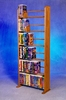 Solid Oak 6 Row Dowel VHS Rack - 605