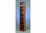 Solid Oak 64 Capacity DVD Storage Tower - 110-4DVD