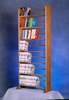 Solid Oak 7 Row Dowel Book Rack - 705-bookcase