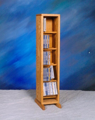 Solid Oak 70 CD Multimedia Storage Cabinet - 506