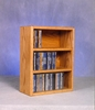 Solid Oak 78 CD Desktop or Shelf Cabinet - 303-1