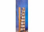 Solid Oak 8 Row Dowel 208 CD Rack - 804