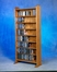 Solid Oak 8 Shelf Multimedia Storage Cabinet - 802