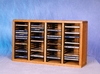 Solid Oak 80 CD Desktop or Shelf Storage Cabinet - 409-1