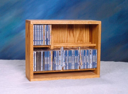 Solid Oak 84 CD Multimedia Storage Cabinet - 206-18