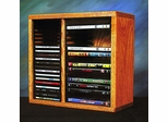 Solid Oak CD/DVD/VHS Storage Rack - 211-1CD/DVD