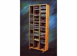 Solid Oak Combination Tower - CD / DVD - 313-4CD/DVD