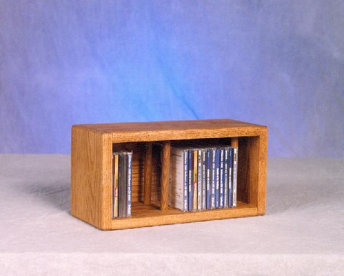 Solid Oak Desktop CD Cabinet - 103D-1