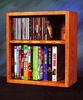 Solid Oak Desktop or Shelf CD/DVD/VHS Combination Storage Rack - 211-1W
